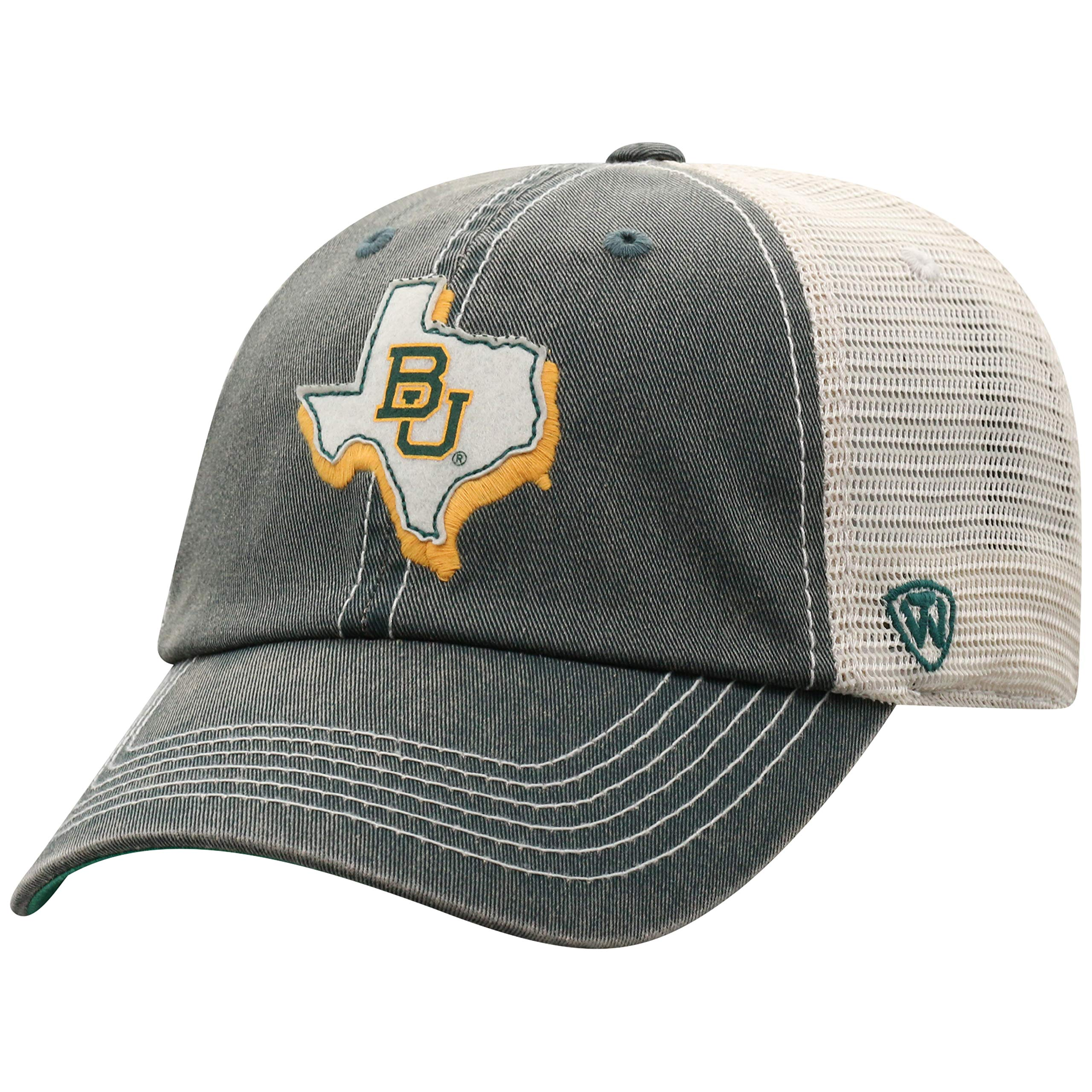 Top of the World Baylor Bears Men's Mesh-Back Hat Icon, Green, Adjustable