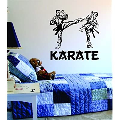 Karate Quote Design Decal Sticker Wall Vinyl Art Kickboxing Jiu Jitsu Kung Fu Kid Boy Girl Teen: Everything Else