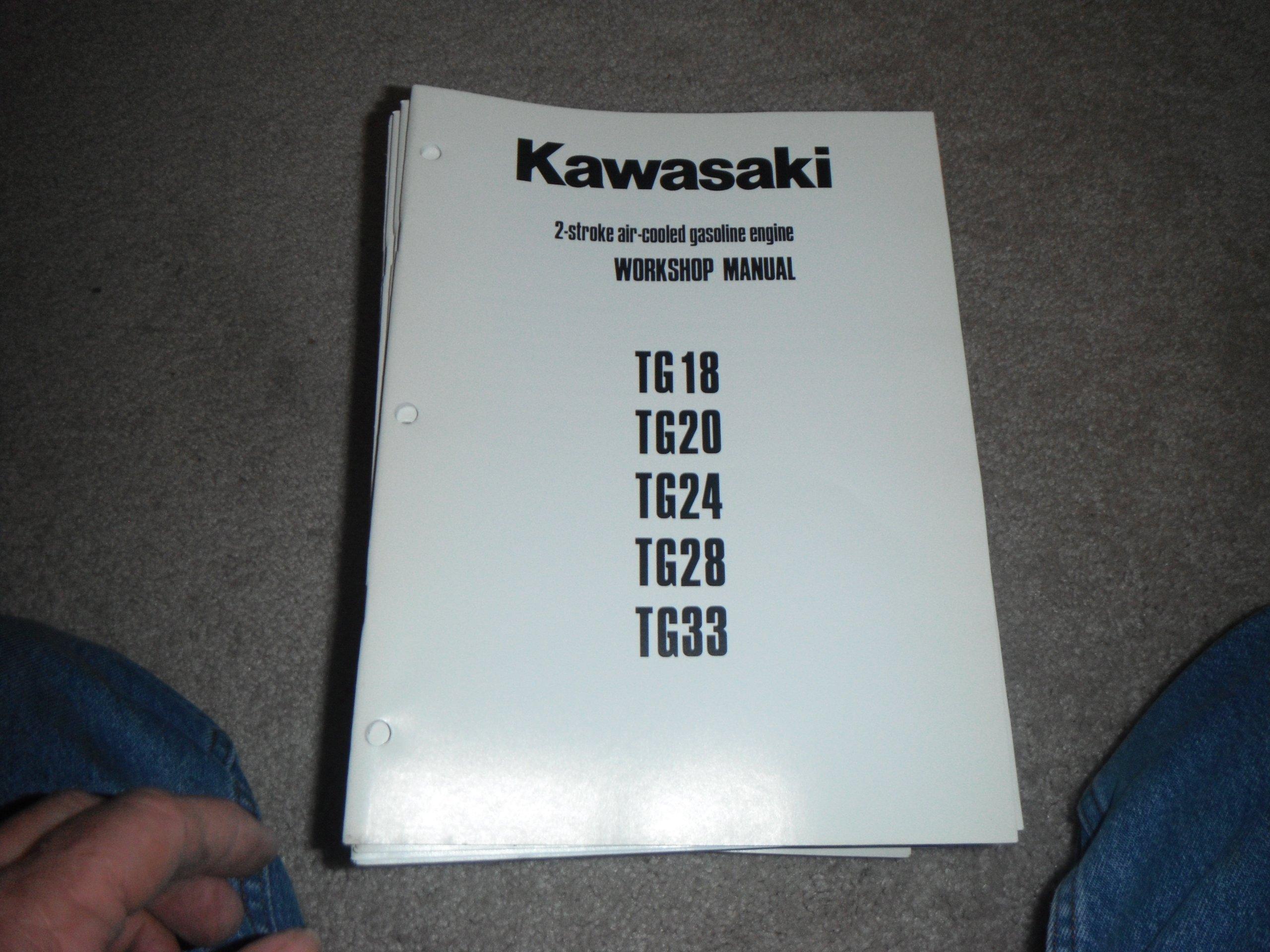 Kawasaki Tg18, 20, 24 28, 33 -2 Stroke Air-cooled Gasoline Engine Service  Manual: kawasaki heavy industries: Amazon.com: Books