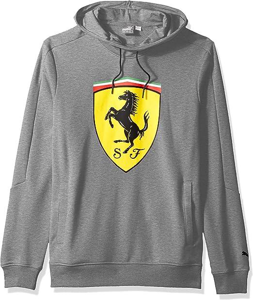 Puma Herren Scuderia Ferrari Big Shield Hoodie Kapuzenpulli