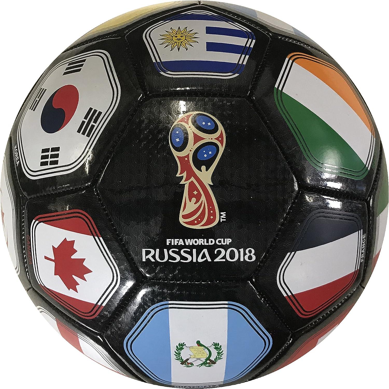 Icon Sports FIFA 2018 World Cup Rusia - Balón de fútbol, Negro ...