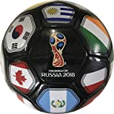 Icon Sports FIFA 2018 World Cup Russia Souvenir Soccer Ball (Black)