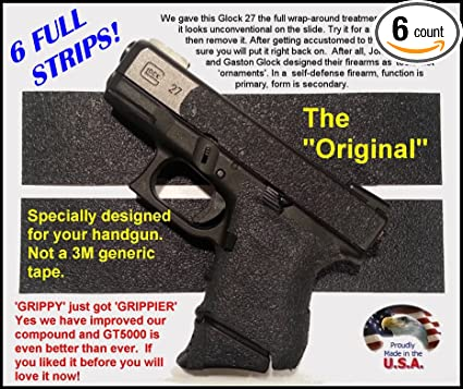 GT-5000 (6 Strips) Grip Tape for guns, cell phones, cameras, knives, tools - makes anything