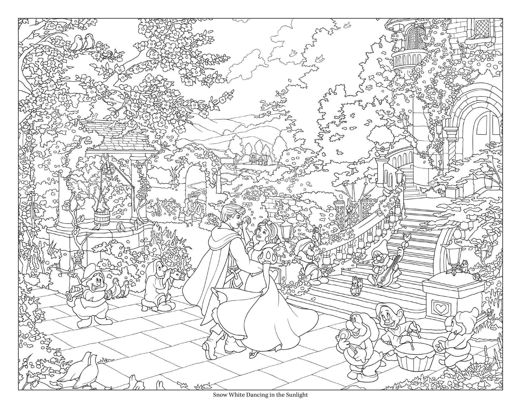 Amazon.com: Disney Dreams Collection Thomas Kinkade Studios Disney Princess  Coloring Poster Book (0050837423923): Kinkade, Thomas: Books