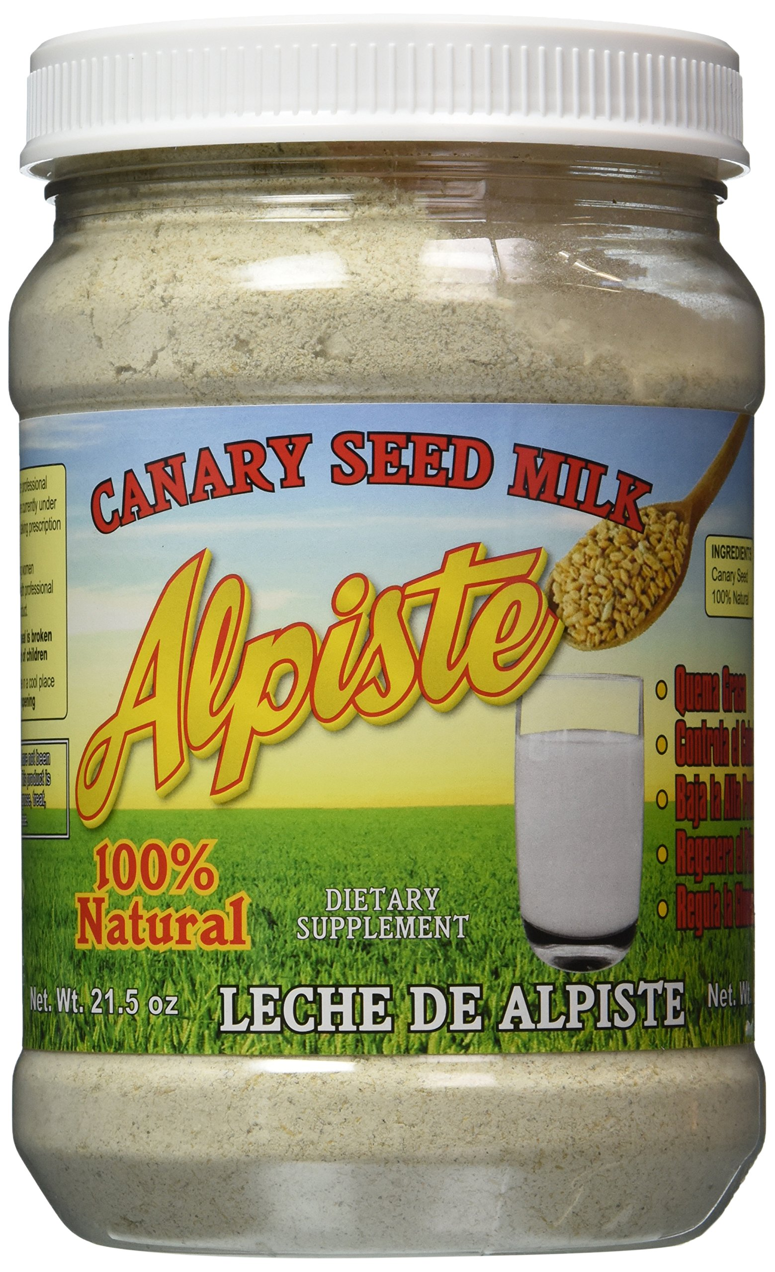 Leche de Alpiste - 100% Canary Seed Milk & No Silica - 21.5 Ounces by