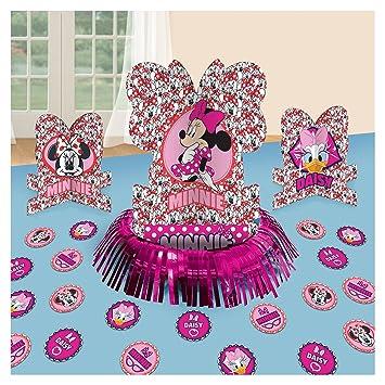 Amscan 9903449 Minnie Mouse Mesa Fiesta Kit de Decoración ...