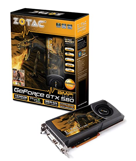 Zotac GF GTX 580 AMP - Tarjeta gráfica NVIDIA (PCI-e ...