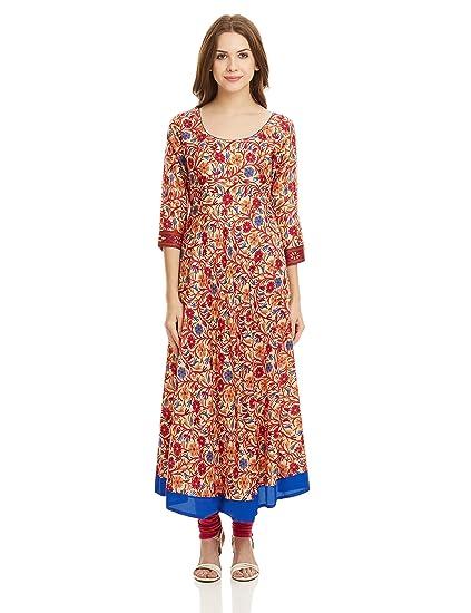 70eec85af Libas Women s Anarkali Kurta (3019M Beige)  Amazon.in  Clothing ...