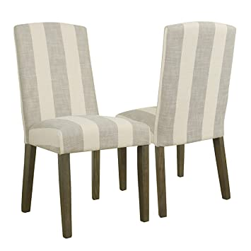 Peachy Homepop Parsons Classic Upholstered Accent Dining Chair With Curved Top Set Of 2 Taupe Short Links Chair Design For Home Short Linksinfo