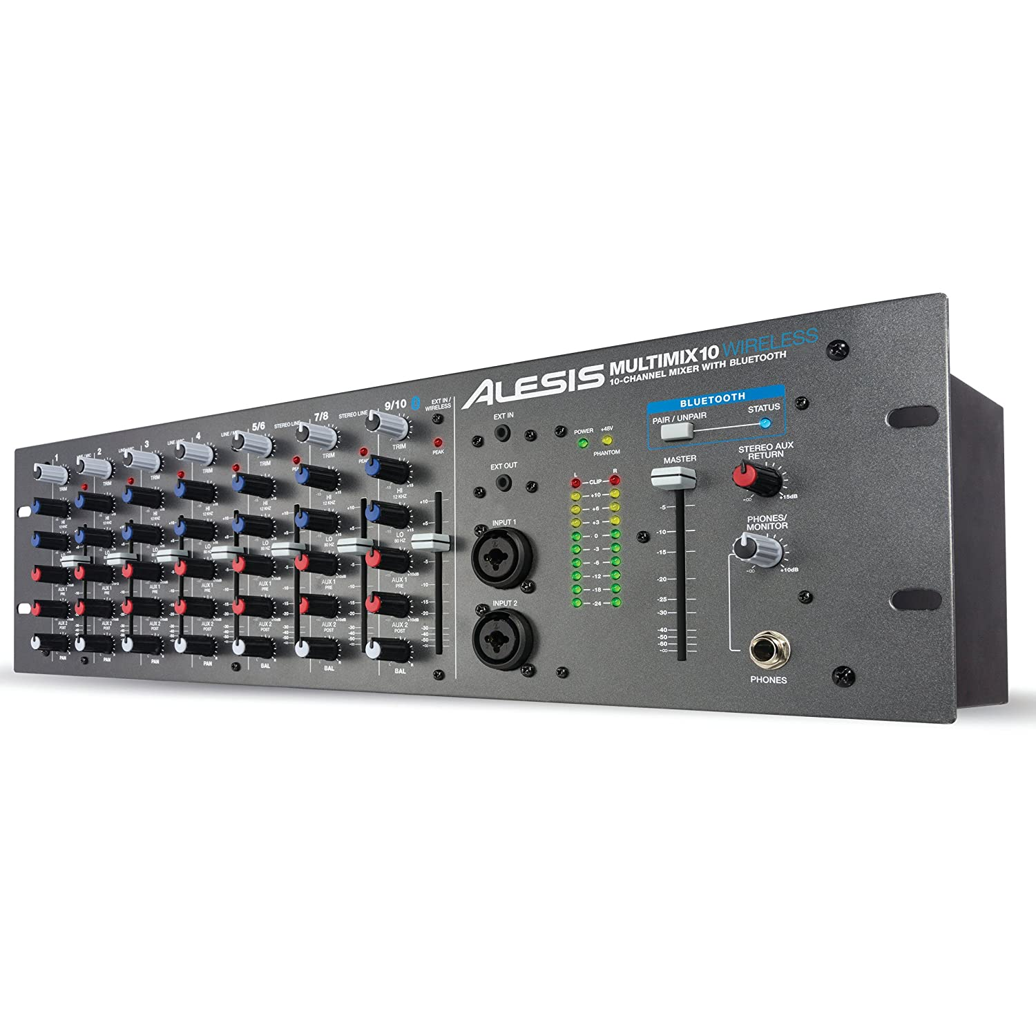 Alesis Multimix 10 Wireless | 10-Channel Mixer with Integrated Bluetooth Wireless Capability MULTIMIX10WIRELE