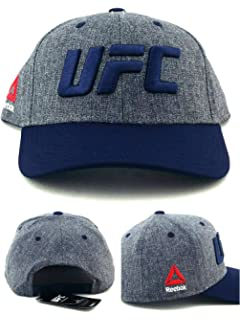 94b8a3a25e7 Reebok UFC RBK MMA Heather Logo Blue Gray Adjustable Snapback Hat Cap