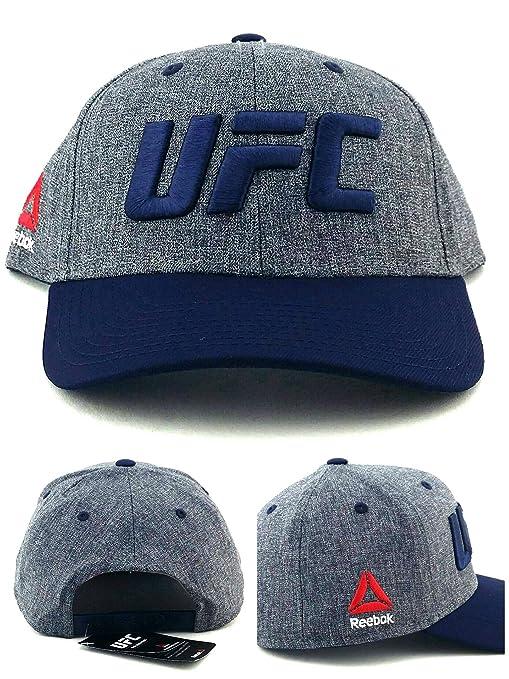 40d4bcbb045faf Amazon.com   Reebok UFC RBK MMA Heather Logo Blue Gray Adjustable ...