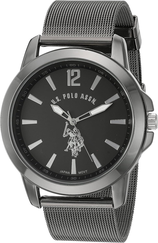 U.S. Polo Assn. Classic Men s Quartz Metal and Alloy Watch, Color Black Model USC80384