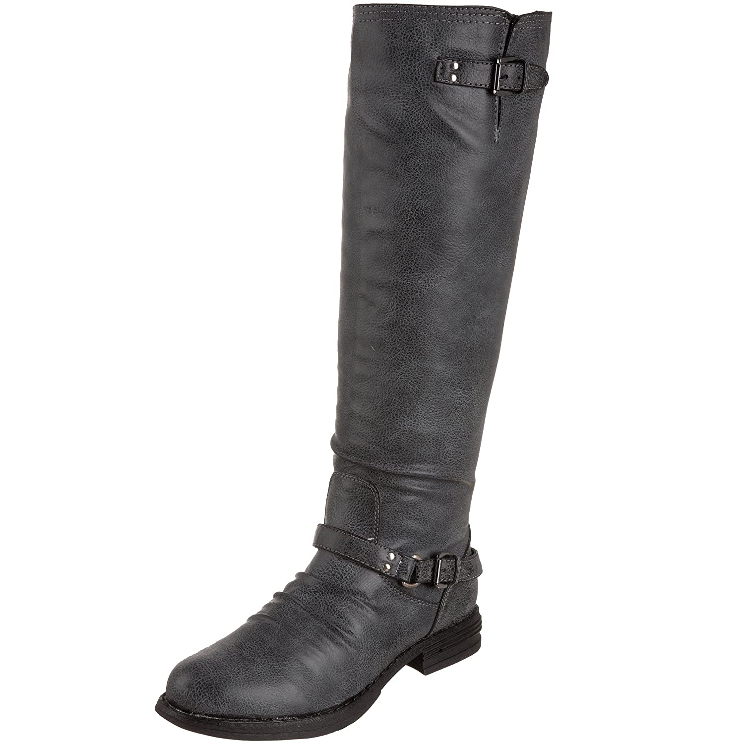 Madden Girl Womens Zoiiee Boot Black Paris 95 M Us Cut Engineer Shoes Safety Boots Iron Suede Leather Knee High