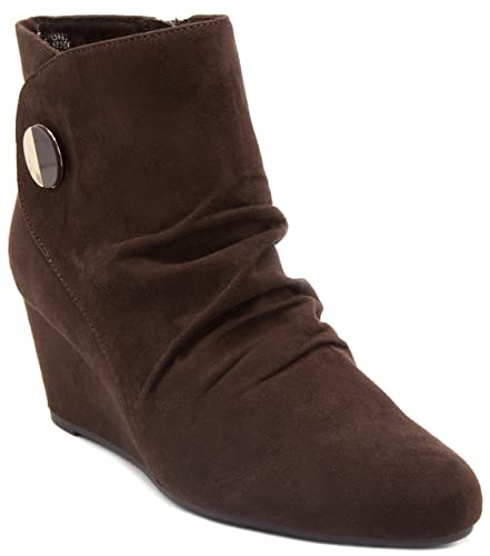London Fog Janeway Women's ... Wedge Ankle Boots 7lFyLxsEUQ
