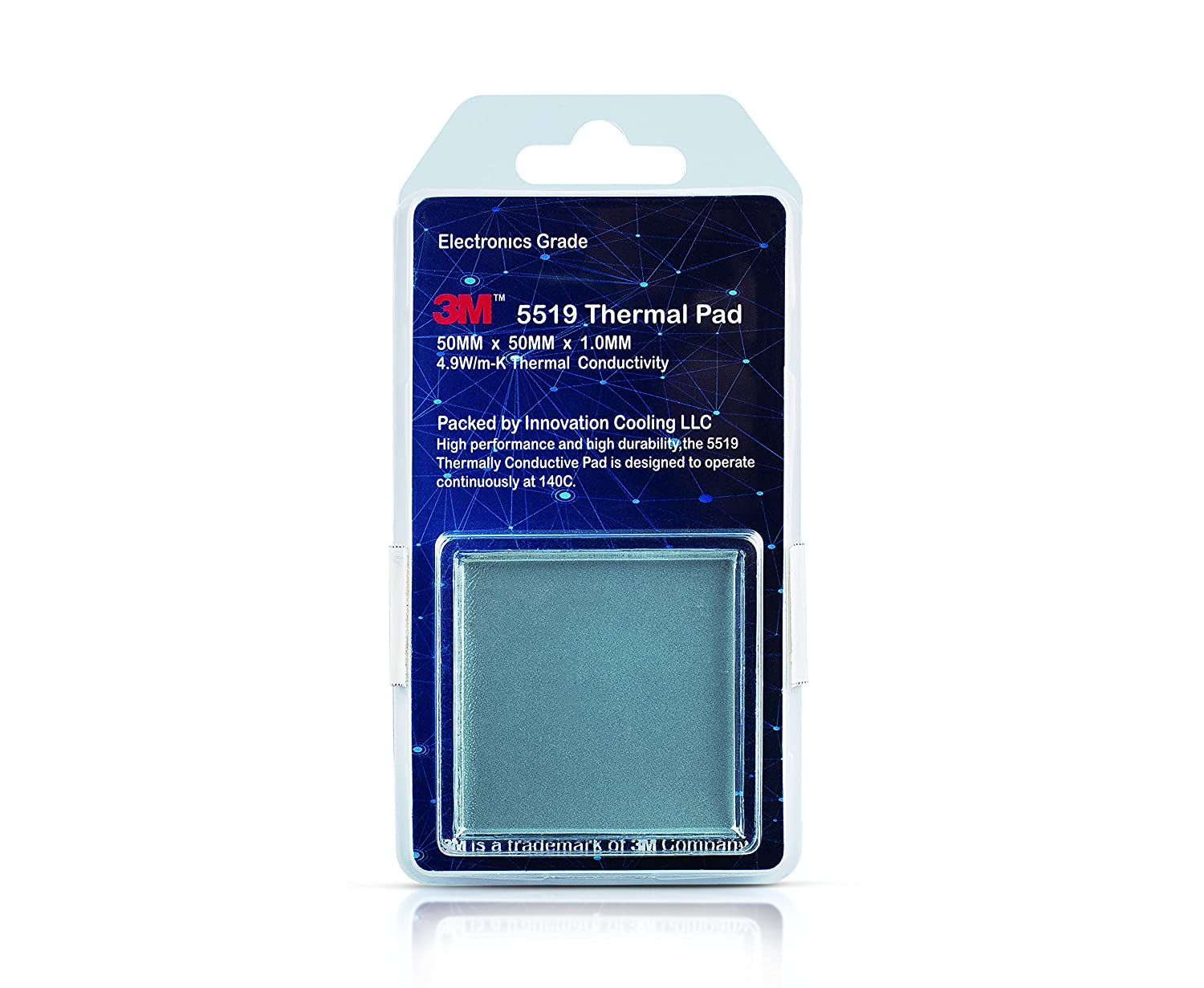 Innovation Cooling 3M 5519 High Performance Electronics Grade Thermal Pad, 50 x 50 x 1mm IC 3M