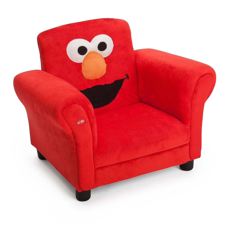 High Quality Amazon.com: Delta Children Upholstered Chair W/ Sound, Elmo Sesame Street:  Baby