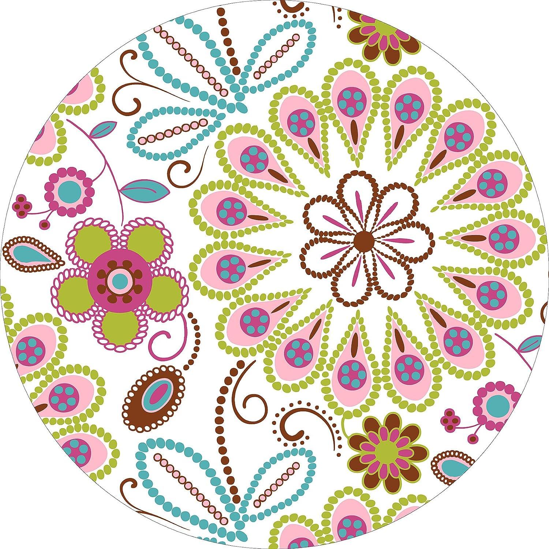Wallpops Fine Décor - Adesivi decorativi da parete, fantasia floreale, effetto caleidoscopio WPD99855