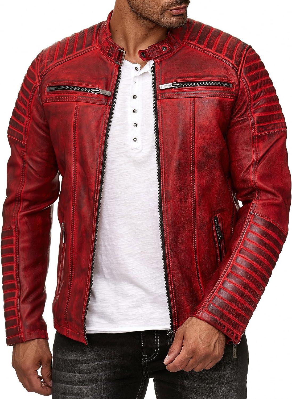 Red Bridge Chaqueta de Hombres Cuero Sintética, Algodón y Cuero Real Moda Cazadora: Amazon.es: Ropa y accesorios