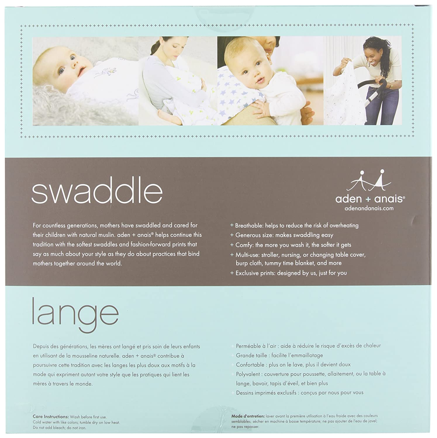 aden 4er pack anais 2035G Classic Swaddle For The Birds