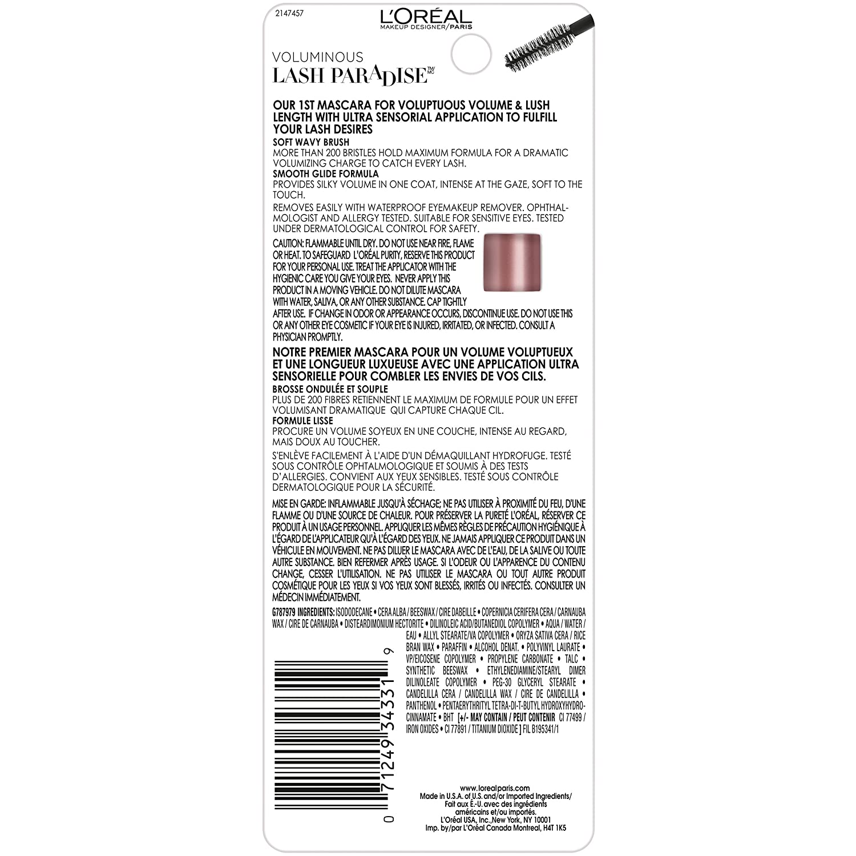 L'oreal eye makeup remover coupons - Amazon Com L Oreal Paris Cosmetics Voluminous Lash Paradise Waterproof Mascara Black 0 25 Fluid Ounce Beauty