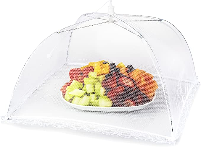 BBQ KITCHEN GAR 2X Large 70cm COLLAPSIBLE FOOD COVER CAKE PROTECTOR NET POP UP