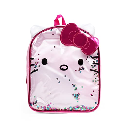 ba804c438c75 Image Unavailable. Image not available for. Color  Sanrio Hello Kitty Pink  Bow Glitters 10 inches Mini Backpack for Girls