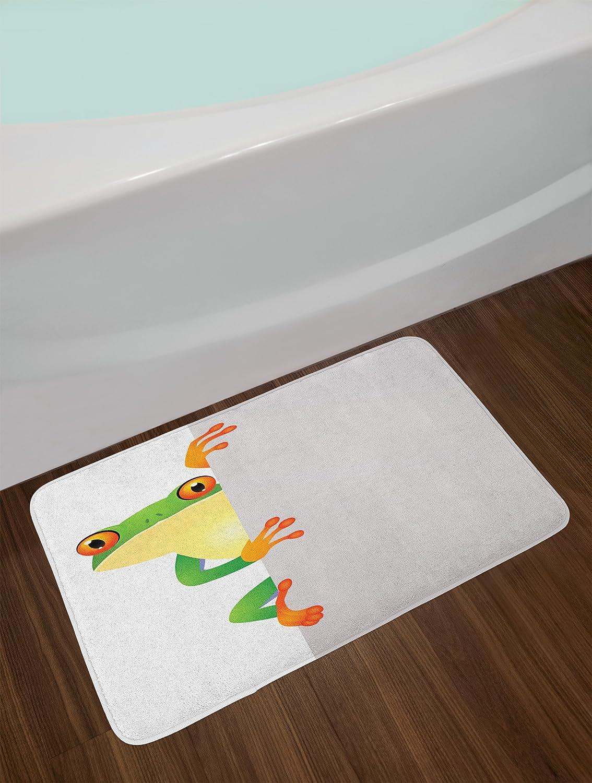 29.5 W X 17.5 L Inches Traditional Asian Sacred Spotty Koi Figures Carps Oriental Sign of Love Zen Orange Beige Plush Bathroom Decor Mat with Non Slip Backing Ambesonne Koi Fish Bath Mat