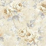 BHF 484-68059 Pandora Pivoine Trail Papier peint Blanc