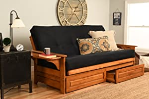 Kodiak Furniture Phoenix Futon, Full, Suede Black