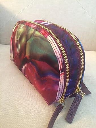 Amazon Com Sonia Kashuk Double Zip Clutch Makeup Bag Floral Rose