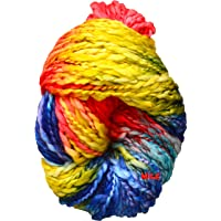 M.G Enterprise Knitting Yarn Thick Chunky Sumo Wool, Macaw 200 gm Best Used with Knitting Needles, Crochet Needles Sumo Wool Yarn for Knitting. by M.G Enterprise