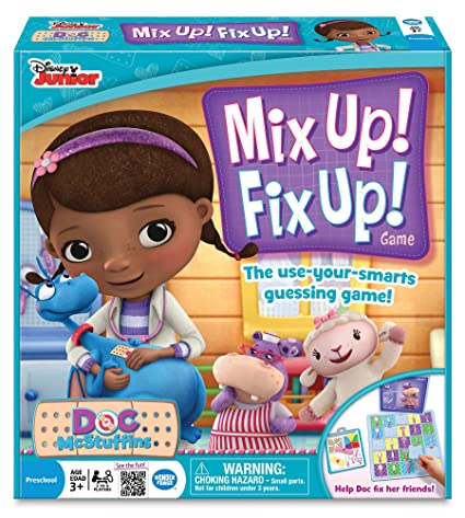 Amazoncom Wonder Forge Doc McStuffins Mix Up Fix Up Game Toys Games - Doc games