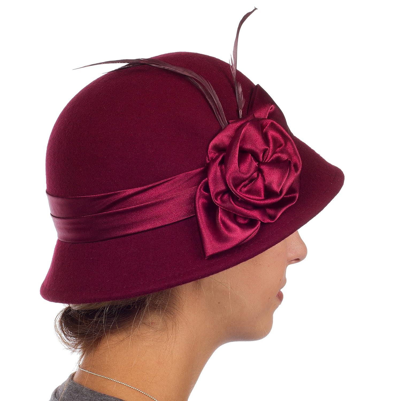 Sakkas Danielle Jahrgang Stil Wolle Glocke Hut