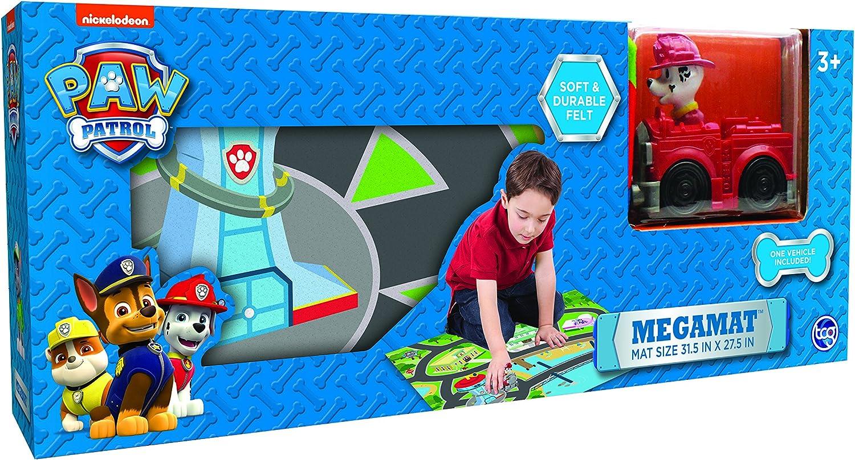 Amazon Com Paw Patrol Felt Mega Playmat With Vehicle Toys Games