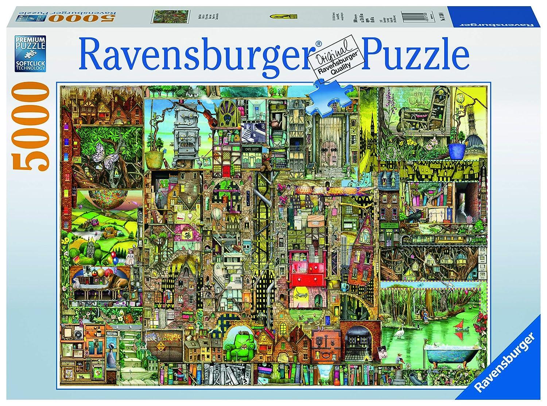 Ravensburger Puzzle 17430 - Skurrile Stadt, 5000-Teilig: Amazon.de ...