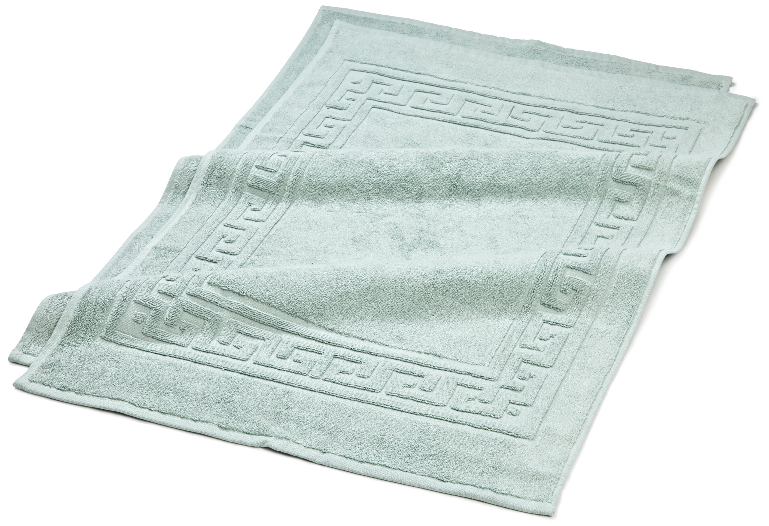 Superior Hotel & Spa Quality Bath Mat Set of 2, Made of 100% Premium Long-Staple Combed Cotton, Durable and Washable Bathroom Mat 2-Pack - Sage, 22'' x 35'' each