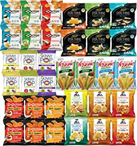 Snacks Variety Pack for Adults - Healthy Snack Bag Care Package - Bulk Assortment (34 pack)
