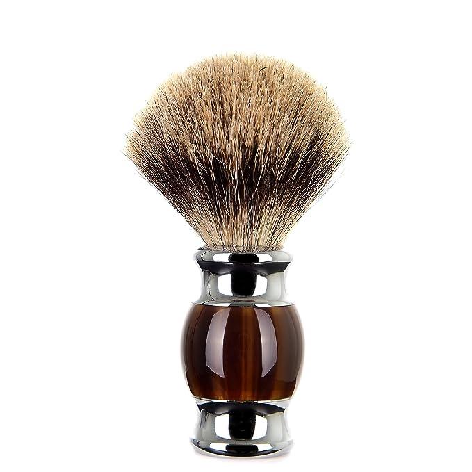 1 opinioni per Edow Pennelli da barba, 100% Tasso Capelli Con manico In metallo Di lusso Barba
