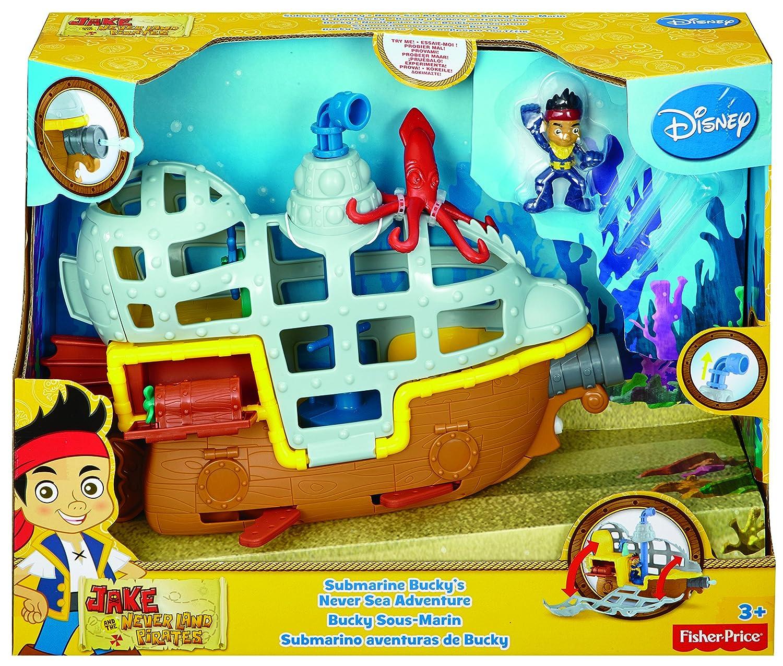 Sottomarino di Jake e i pirati dellisola che non c/è Mattel Fisher-Price BDJ02