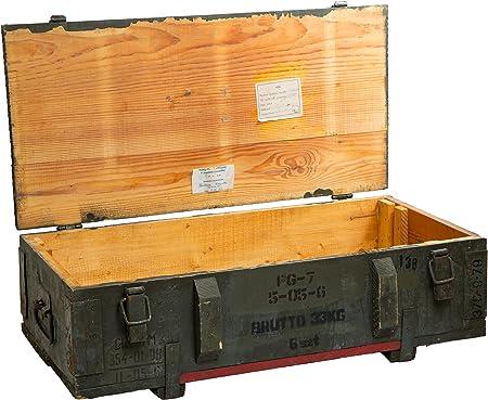 Caja de munición PTM-Caja para guardar CA CA 81x 51x 31cm Militar Caja Munitions Caja de madera caja de madera cajón-estantería manzana caja Shabby Vintage: Amazon.es: Jardín