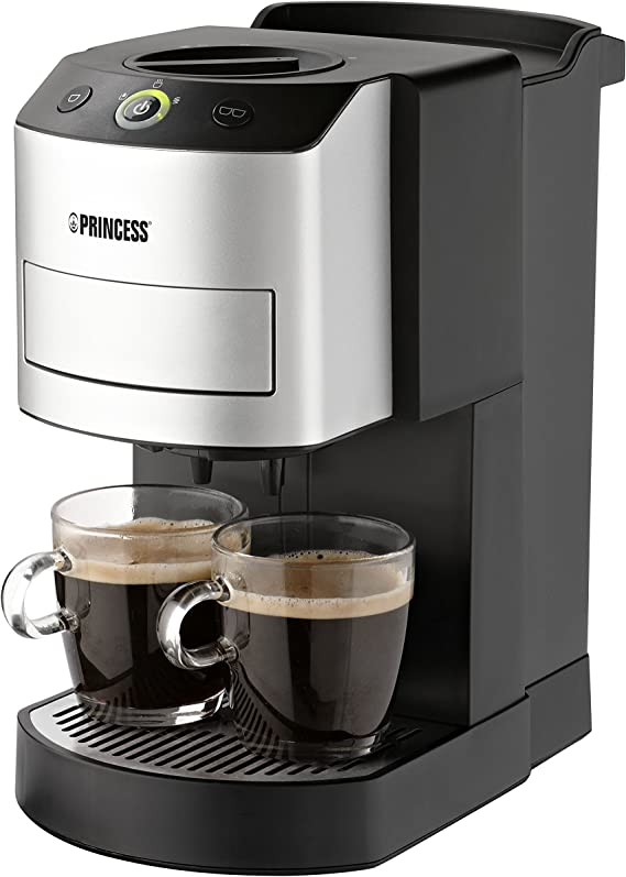 Princess 242800 - Cafetera con capacidad de 1 l, color plateado ...