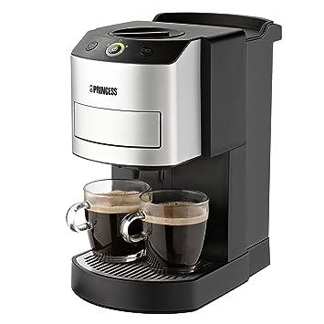 Princess 242800 Independiente Totalmente automática Máquina de café en cápsulas 1L 2tazas Negro, Plata -