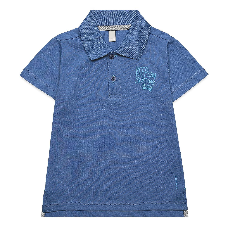 Esprit Kids Jungen Poloshirt Einfarbig Gr. 116 Blau (grey Blue 420) RJ10534