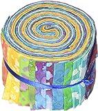 面料调色板 6.35cm x 106.68cm Cuts Jellies * 纯棉,20 件装,长路淡紫色