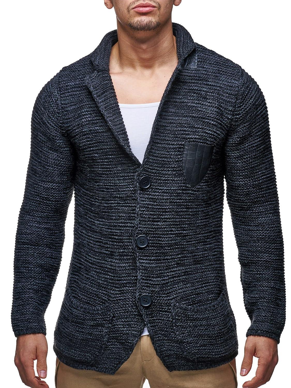 LEIF NELSON Men's Knitted Pullover 7030