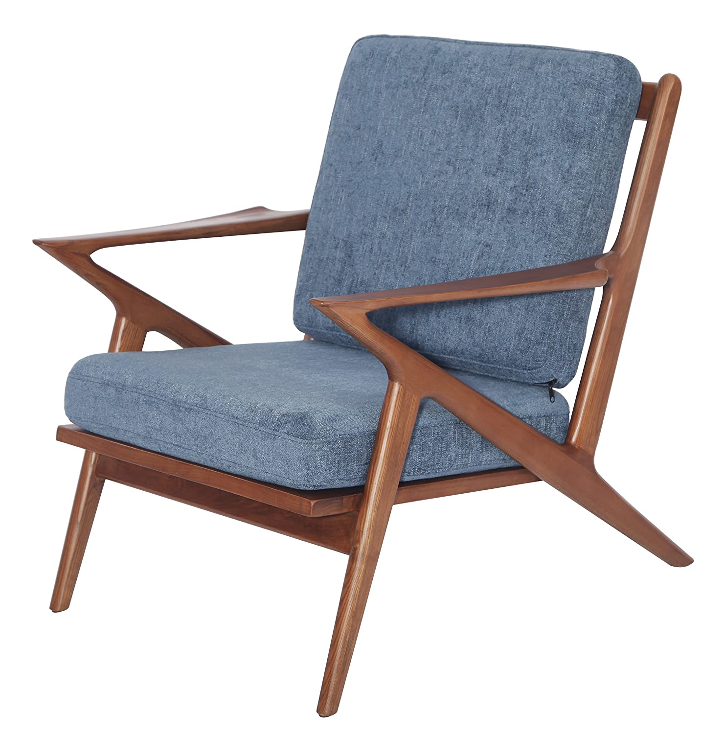 Amazon.com: MLF Modern Mid Century Vintage Danish Selig Z Chair Accent  Armchair, Blue: Kitchen U0026 Dining