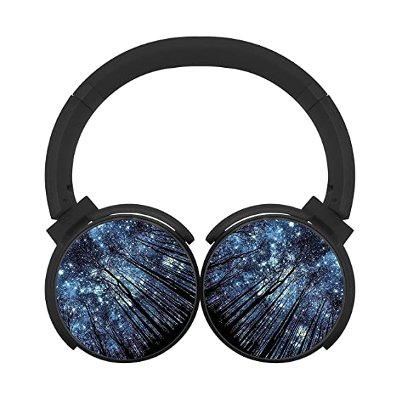 gamer chart the moonlight in the woods stereo wireless headphones with  microphone on-ear foldable