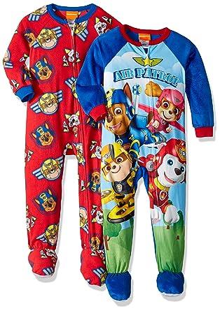 Nickelodeon Boys  Toddler Paw Patrol 2-Pack Footed Blanket Sleepers ebcd5bca5