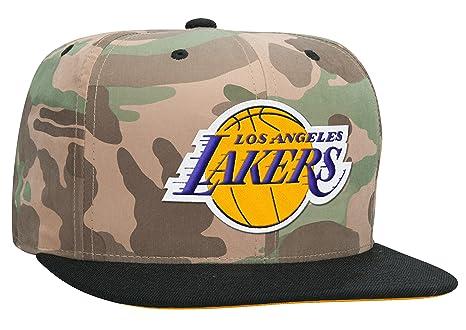 a5f3a8a4387b7 Los Angeles Lakers  quot Ambush quot  Camo Fitted Snapback Cap - NBA Camouflage  Flat Bill